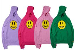 yellow smiley hoodie 2020 - 2020 High quality luxury men's sweater new smiley hooded sweater hoodie INS tide cheap yellow smiley hoodie