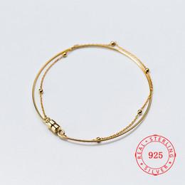$enCountryForm.capitalKeyWord Australia - China Yiwu High Quality 925 Sterling Silver Double Layer Chain Ferrite buckle Bracelets For Women Fine Jewelry Birthday Gift Charm Bracelet