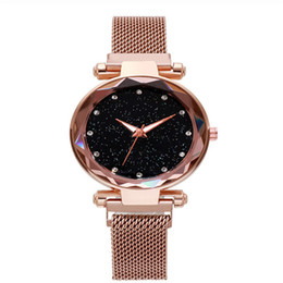 analog smart watch NZ - Hot sale women fashion luxury smart brand ladies strainless steel galaxy clock analog watch quartz colorful wristwatch