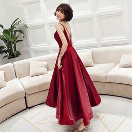 $enCountryForm.capitalKeyWord Australia - New mid length 2019 birthday party Brilliant red sexy dresses strapless back cross zipper spaghetti skirt for summer