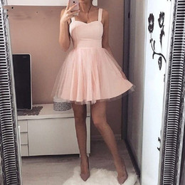 Cheap Cute Plus Size Dresses NZ - Cute Short Homecoming Dresses Cheap 8th Grade Graduation Dresses for High School Cocktail Prom Dress Party Gown