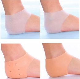 Foot cracked heel online shopping - 1000pcs Silicone Foot Care Tool Moisturizing Gel Heel Socks Cracked Skin Care Protector Pedicure Health Monitors Massager RRA1955