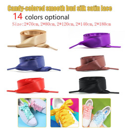 $enCountryForm.capitalKeyWord NZ - 1Pair 2CM Wide Satin Silk Ribbon Shoelaces 70CM 80CM 120CM 140CM 180CM Flat Satin Ribbon Children Kids Shoelaces Shoe Laces