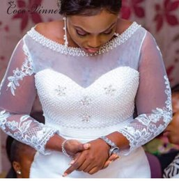 $enCountryForm.capitalKeyWord Australia - Wedding dress new Sexy one word shoulder fishtail wedding dress high-grade car bone lace slimming wedding dress