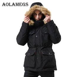 $enCountryForm.capitalKeyWord Australia - Aolamegs Down Jacket Men Multi-Pocket Hat Detachable Winter Jacket Men Stand Collar Parkas Fashion Casual Windproof Coat Mens