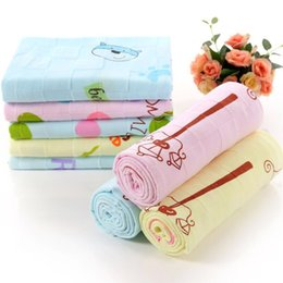 $enCountryForm.capitalKeyWord NZ - 100% Cotton Large Square Towel Cartoon Pictures Double Gauze Printing Children Infant Baby Quilt Blanket Child Baby Towel 95 * 95 cm