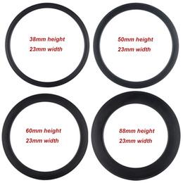 T700 clincher or tubular 38 50 60 88mm depth carbon fiber rim 23mm width 3k matte with basalt brake surface carbon rim 700C on Sale