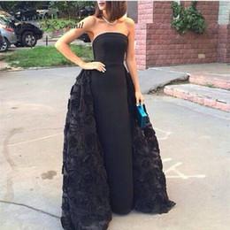 Quinceanera Dresses White Detachable Australia - High Quality Black Prom Dress Detachable Train Women Long Formal Quinceanera Dress Evening Party Gown Plus Size vestidos de festa