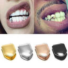 Dental golD alloys online shopping - 14K Gold Plated Single Tooth Grillz Colors Dental Grillz Top Bottom Hiphop Teeth Caps Body Jewelry for Women Men