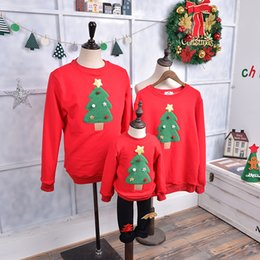 93ffe736 2019 Fashion Winter Warm Christmas Tree Pattern Family Matching Outfits  Clothing Kids T-shirt Add Wool Warm Family Clothes P197