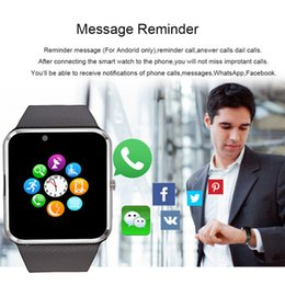 smart watch phone language french NZ - Hot Bluetooth Multi-language SmartWatch Phone GT08 Bluetooth Smart Watch Touch Screen Andriod Smart Wristwatch With 4G SIM Card TF Card Slot