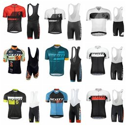 Cycling Gel Pads NZ - 2019 SCOTT Men Cycling Jersey Mtb Cycling Clothing Bicycle Short Sleeve shirt bib pants gel pad set ropa Ciclismo Bike Clothes K012404