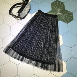 Milan Designer Women Skirts Gorgeous G Letter grid Print Pleats Skirts Women 2019 Spring summer Skirts 041903WL on Sale