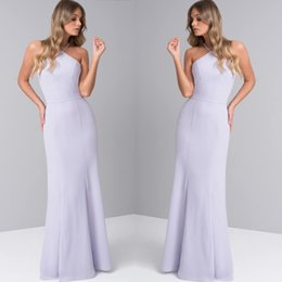 $enCountryForm.capitalKeyWord Australia - Chic Pure Color Mermaid Mother Of Bride Dresses Slim Fit Chiffon Floor Length Dress Halter Neck Light Purple Mother's Dress