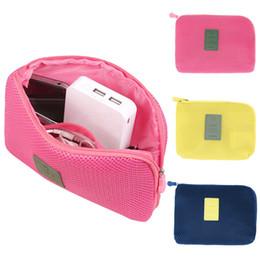 $enCountryForm.capitalKeyWord Australia - Travel storage box for digital data cable charger headphone portable mesh sponge bag power bank holder cosmetic box SY0005