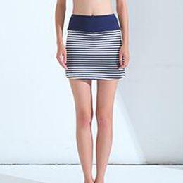 Discount striped yoga pants - Women Casual Mini Shorts Elastic Waist Nylon Spandex Yoga Fitness Running Wear 3 Colors Ladies Striped Pant Skirts
