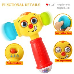 Discount key machines - 3115 baby toys hammer toy for children with music and lights electric toys improve the baby's ability to function 1