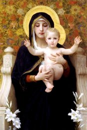 $enCountryForm.capitalKeyWord Australia - madonna of the lilies bouguereau,Home Decor HD Printed Modern Art Painting on Canvas (Unframed Framed)