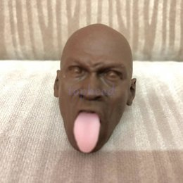 Wholesale Mixed Order Custom scale Head Sculpt blank unpainted basketball MJ with tongue fit quot figure body MJT