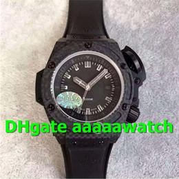V6 Men Watch Australia - V6 Luxury 48mm Men Watch 731.QX.1140.RX Watch Diver 4000 Forged Carbon Fiber Silver Marker Black Rubber A.7750 Automatic Movement