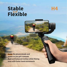iphone gimbal Australia - Smooth Smart Phone Stabilizing H4 Holder Handheld Gimbal Stabilizer for iPhone 11 Pro Max XS XR X 8Plus 8 7P Samsung Note 10 Action Camera
