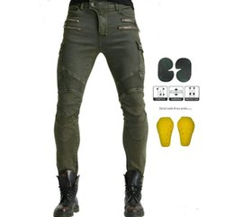 padded jeans pant Australia - motorcycle jeans riding Love Moto pants leisure trousers Not Komine off-road motocross riding pants zipper design with 4 Pads