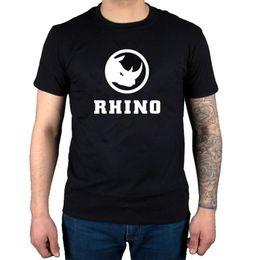 $enCountryForm.capitalKeyWord Australia - Fashion Rhino Funny Logo T Shirt Classic Tee Tops