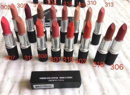 $enCountryForm.capitalKeyWord Australia - Powder Kiss Lipstick Matte Retro Lipsticks Nude Colors 316# DEVOTED TO CHILI Aluminum Tube Frosted Lipstick with Brand Name Top Quality