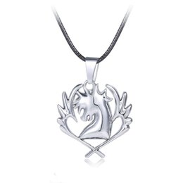 leather tail UK - Fairy Tail Necklace Guild Logo Tattoo Pendant Anime Fashion Jewelry Leather Rope for Men and Women Gift
