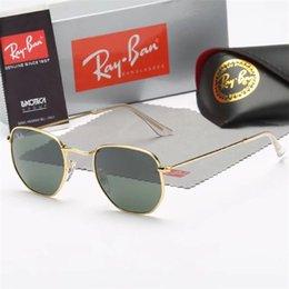 Square Shape Sun Glasses NZ - Top quality ray2140 wayfarer sunglasses matt black square shape 50mm designers sun glass blue gray mirror lenses uv protection sunglass
