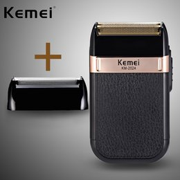 shaving razors for men Canada - Kemeis Electric Shaver for Men Twin Blade Waterproof Reciprocating Cordless Razor USB Rechargeable Shaving Machine Barber Trimmer