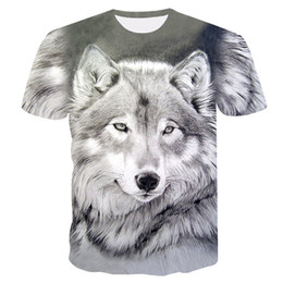 $enCountryForm.capitalKeyWord Australia - 2019 New Summer Brand 3D Wolf head T-shirt man round collar short sleeve T-shirt men fashion t shirt short sleeves dropshipping