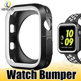 $enCountryForm.capitalKeyWord Australia - For Apple Watch Case Dual Color Silicone Protective Bumper for iWatch Series 4 3 2 44mm 40mm 42mm 38mm Cover Case