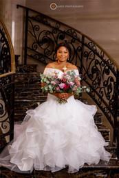 Wholesale sexy skirts shoulder straps resale online - 2020 Sexy Off Shoulder Mermaid Wedding Dresses Elegant Lace Appliuqes Plus Size Sweep Train Bridal Gown