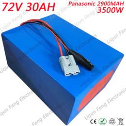 $enCountryForm.capitalKeyWord Australia - High Power 72V 3500W Lithium Battery 72V 30AH E-Bike Battery Pack Built-in Bracket Use Panasonic 2900MAH Cell 50A BMS 5A Charger.