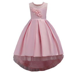 China Girl Tail Dresses With Beads And Diamonds TuTu Skirt Party Wedding Formal Ball Gown Sleevelss Dress cheap wedding dress tail line suppliers