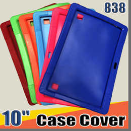 "tablet a83t Canada - 838 Cheapest 50pcs Anti Dust Kids Child Soft Silicone Rubber Gel Case Cover For 10"" 10.1 Inch A83T A33 A31S Android Tablet pc MID Free DHL"