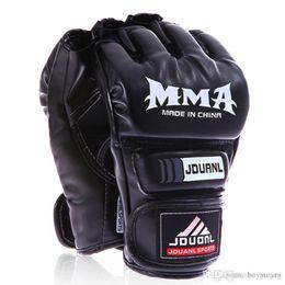 $enCountryForm.capitalKeyWord Australia - Kickboxing Half-Finger Gloves UFC MMA PU Fighting Glove Martial Arts Free Combat Boxing Semi-Gloves Kung Fu Beginner Muay Thai Training Mitt