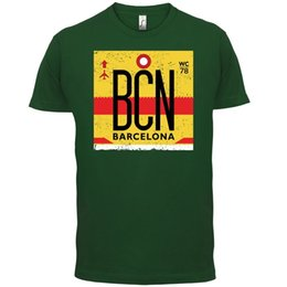 4efeac42dea Barcelona - Mens T-Shirt - Travel Spain Holiday Airport - 13 ColoursFunny  free shipping Unisex Casual