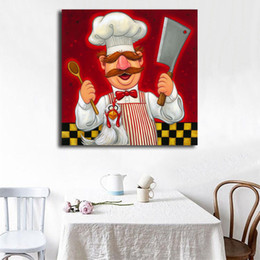 $enCountryForm.capitalKeyWord NZ - Cartoon Character Swedish Chef Canvas Art Oil Printing Modern Poster Picture Decraotion Print Nursery Decorative Kid Living Room Home Decor