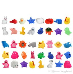 Promotional toys mini online shopping - Promotion Sale Mini Ducks Animals Baby Bath Water Toys For Sale Kids Bath PVC Duck Animals With Sound Floating Animal
