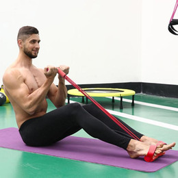 $enCountryForm.capitalKeyWord NZ - Fitness Rope Tube Elastic Pedal Resistance Band Exercise Equipment Latex Pedal Pull Ropes Women Yoga Pilates Workout