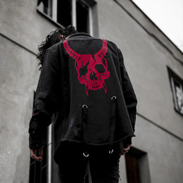 $enCountryForm.capitalKeyWord Australia - 2019 Denim Jeans Jacket Men Streetwear Hole Ripped Skull Printed Embroidery Autumn Vintage Jacket Coat Motorcycle Biker