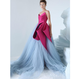 $enCountryForm.capitalKeyWord Australia - 2019 Sexy Grey Tulle Evening Dresses Zuhair Murad Ruffles Prom Dresses Sweep Train Sweetheart Party Formal Gowns Robe De Soiree