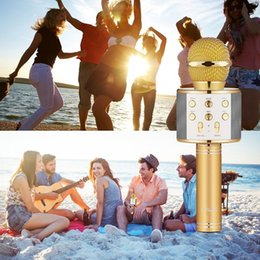 $enCountryForm.capitalKeyWord NZ - Bluetooth wireless Microphone Bluetooth Karaoke MIC Speaker Record Music USB KTV Player Bluetooth Mic For Cell Phone Tablets PC