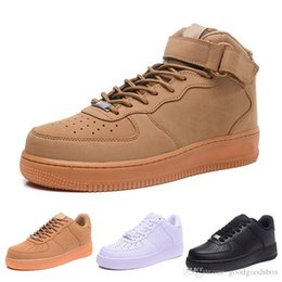 leather plastic UK - CORK For Men&Women High Quality One 1 casual Shoes Low Cut All White Black Colour Casual Sneakers Size US 5.5-12