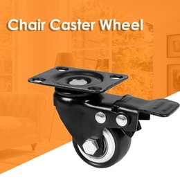 $enCountryForm.capitalKeyWord Australia - Universal Movable Office Chair Caster Wheel Swivel PU Metal Wheel Rollers
