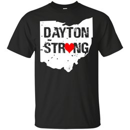 strong tees Australia - Dayton Ohio State Dayton Strong Love Heart Map Black T-Shirt M-3Xl Top Quality Tee Shirt