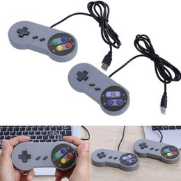 $enCountryForm.capitalKeyWord NZ - TOP quality SNES USB Controller PC Controllers Gamepad Joypad Joystick Replacement for Super Nintendo SF SNES NES Tablet PC LaWindows MAC