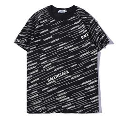 Wholesale rainbow t shirts online – design Summer new Best Sellers mens designer t shirts colorful Rainbow Letter Printing T shirt men and women shirt